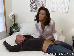 Superb shemale jessy dubai pounding her husband tight ass