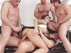 Dp action in hot orgy with kinky billie star