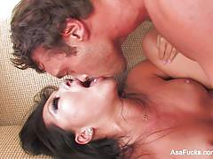 Super sexy asa akira fucking cock on the couch
