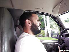 Naughty evie has sex in car