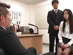 Innocent girl sucked cock to get a job