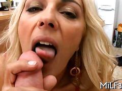 Classy blonde slut sucking dick like a crazy whore