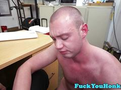 Casting amateur drilled by agents black cock