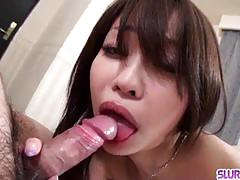 Yuri aine blows hard before getting drilled