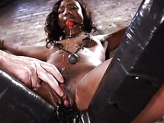 bdsm, hairy, babe, ebony, hogtied, vibrator, ball gag, device bondage, rope bondage, hogtied, kink, the pope, chanell heart