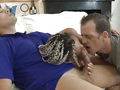 Dick sucking from ashley and her husband @ wanna fuck my wife gotta fuck me too