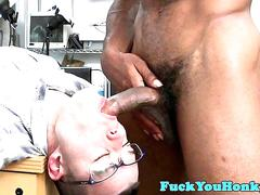 Interacial amateur whiteboy assfucked by bbc