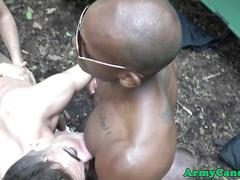 Army soldiers group fuck outdoors