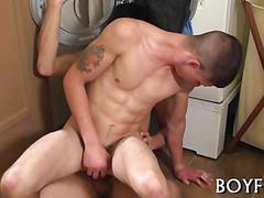 Tattooed guy gets his asshole fucked apart