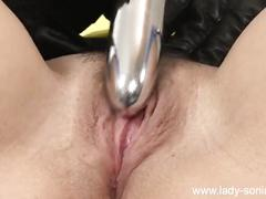 big tits, masturbation, toys, mature, lady-sonia, british, leather-gloves, vibrator, masturbate, old, brunette, solo, milf, big-boobs, stockings