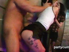 Hot chicks get entirely foolish and naked at hardcore party