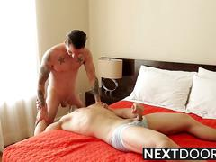 Two attractive hunks johnny and griffin having a rough sex
