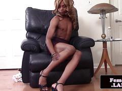 black, masturbation, small tits, heels, solo