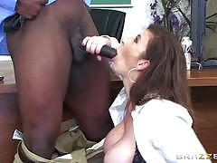 Huge black dick slides deep into sara jay