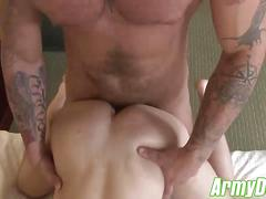 Hot zack punishes quentins smooth and tight bubble butt