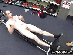 Handsome fit gym trainer considered getting his tight hole fucked