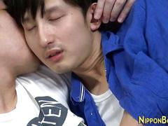 Asian twink gets blowjob asian