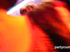 Horny chicks get fully crazy and stripped at hardcore party