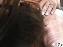 blowjob, masturbation, milf, big tits, shaved, sucking, oral, rubbing