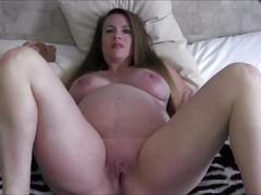 Cum masturbate with me (9 months pregnant)
