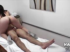 Drea diamond tugs a lucky man at the massage parlour