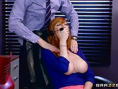 lauren phillips, danny d, blowjob, riding, cumshot, lingerie, facial, office, redhead, ginger, cowgirl, pantyhose, spooning, sucking