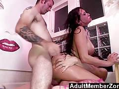 Rampant tory lane double penetrated in threesome