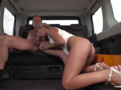 Hot car fuck with naughty czech babe