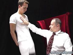 bdsm, old and young, gay, handjob