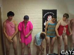 College boys in ladies lingerie get hazed in dorm