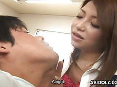 Deep banged pussy of asian babe