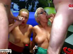 Two beautiful babes team up for some serious fucking - german goo girls