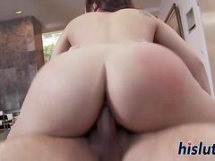 Sexy brunette minx has her pussy drilled