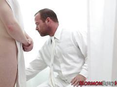 Bishop sucks elders cock