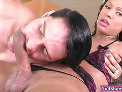Brazilian shemale yanka meirelles sucks dick and anal fucked