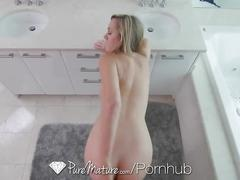 Puremature - mature brett rossi gets champagne sucked off her ass
