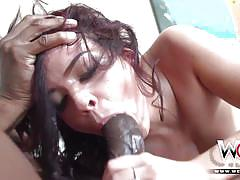 Cute young keisha grey goes black