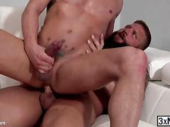 Straight tattooed guy alexander gustavo and colby jansen find each others ass hot