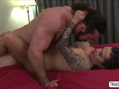 Latina ts foxxy gets pounded in the ass