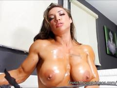 big ass, big tits, fetish, pov, eroticmusclevideos, big-boobs, kink, butt, muscle, fbb, female-bodybuilder, big-tits, big-clit, fitness, solo, oil, brunette, teasing