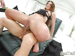 Hard threesome fun for brunette julie skyhigh