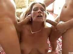 Blonde milf gets banged in all holes
