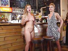 Sexy blonde minion got fucked in public