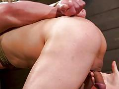 bdsm, cock torture, handjob, rope bondage, blindfolded, threesome, dildo, punishment, anal, mouth gag, men on edge, kink men, jeremy spreadums