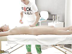 Hot chick gets a very special massage