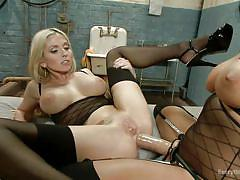 milf, blonde, anal, strapon, lesbians, big tits, stockings, pussy eating, black hair, everything butt, kink, isis love, christie stevens