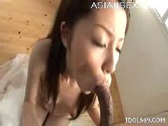 Rina koizumi hot asian slut is great at sucking cock