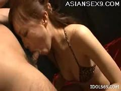 Suzuka ishikawa horny japanese whore gets a huge cock down her throat
