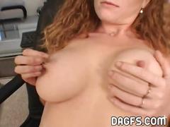 Busty redhead anal fuck