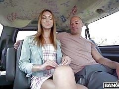 Pussy licking in the bangbus